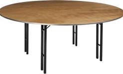Puidust ümmargune laud